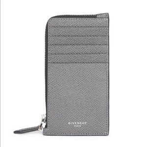 NWT GIVENCHY Eros Zip Pouch Card Holder - Gray